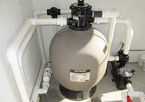 Installation filtre piscine