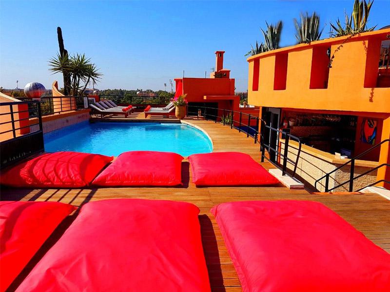 Hotel piscine toit Marrakech