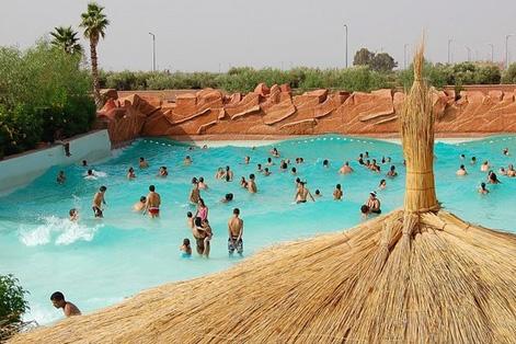 parque piscine oasiria marrakech