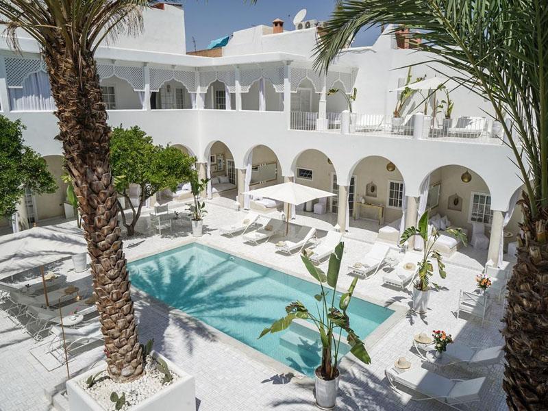 Piscine Riad Palais Blanc Marrakech