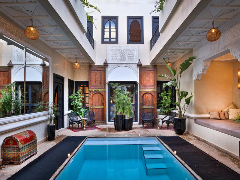 Top 10 meilleurs riads avec piscine marrakech liste for Top 10 riads in marrakech