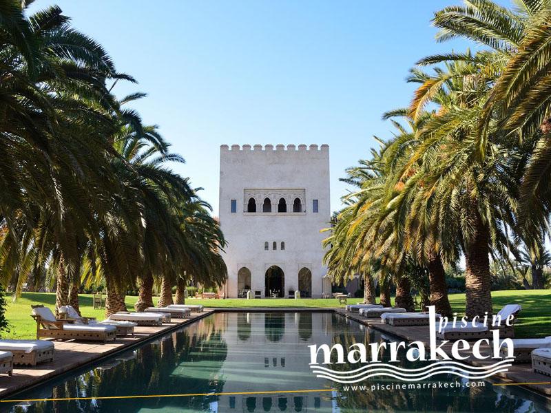 Piscine ksar char bagh palmeraie a marrakech