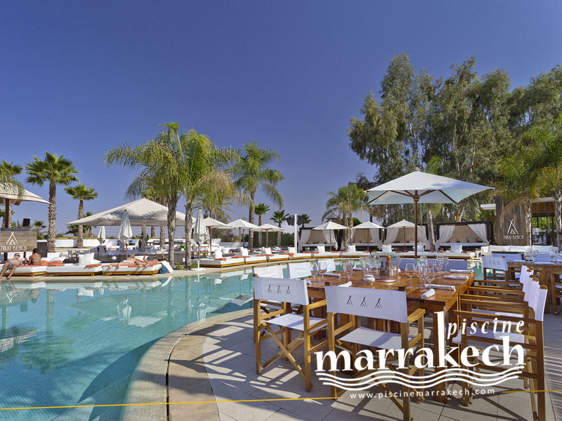 piscine nikki beach palmeraie resorts a marrakech