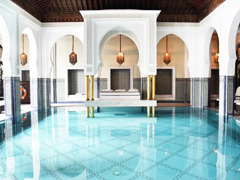 piscine interieur hotel mamounia marrakech