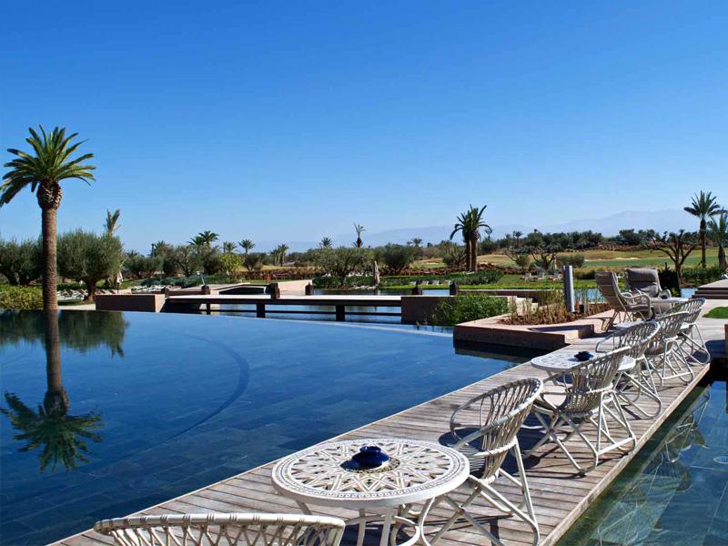 Piscine Chauffée Hotel Royal Palm Marrakech