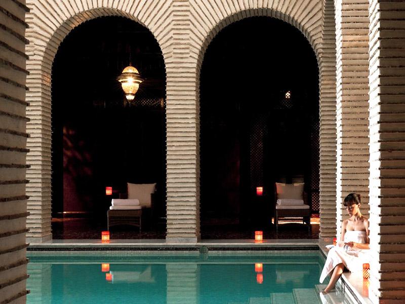 Piscine chauffée hotel selman Marrakech