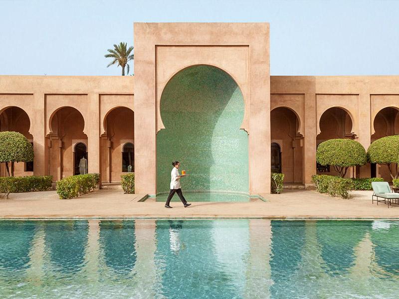 Piscine hotel amanjena Marrakech