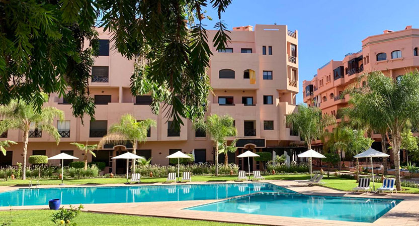 Location appartement piscine residence a Marrakech