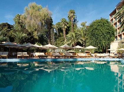 Piscine hotel luxe marrakech